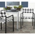 Safavieh Indoor/ Outdoor Halden White/ Black Arm Chair (Set of 2)