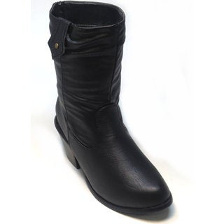 Blue Women's 'Westy' Black Mid-calf Western Boots