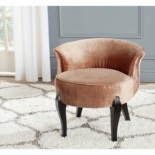 """Safavieh Mora Mink Brown Petite Vanity Chair - 23.4"""" x 24.8"""" x 22.4"""""""