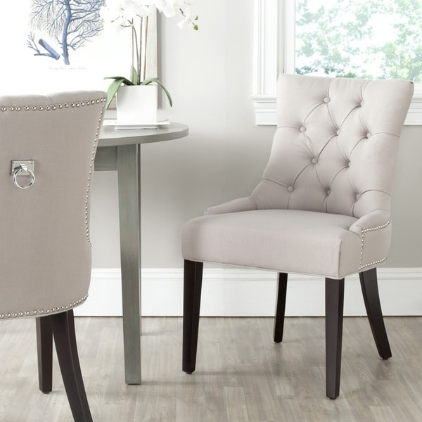 Safavieh harlow taupe ring chair set of 2 15937051 shopping great deals on - Safavieh dining room chairs ideas ...