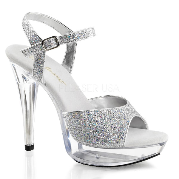 Fabulicious Women's 'Cocktail-509G' Glittery Ankle Strap Stiletto Heels
