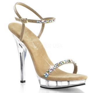 Fabulicious Women's 'Lip-131 Rhinestone Ankle Strap Heels