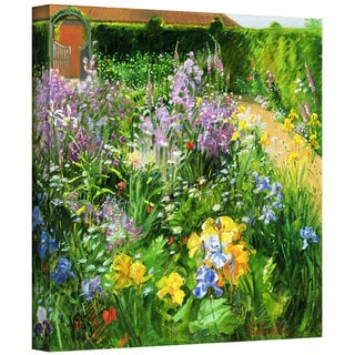 Timothy Easton 'Sweet Rocket, Foxgloves and Irises' Gallery-wrapped Canvas Wall Art