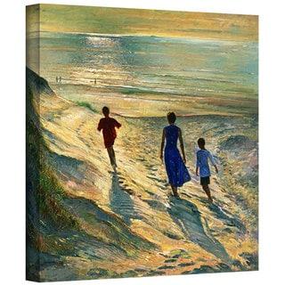 Timothy Easton 'Beach Walk' Gallery-wrapped Canvas Wall Art