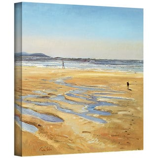 Timothy Easton 'Beach Strollers' Gallery-wrapped Canvas Wall Art