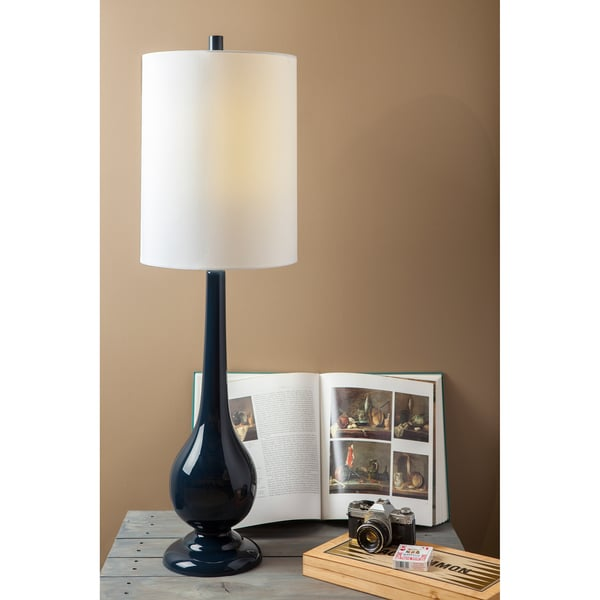 Exquisite Indigo Glass Lamp