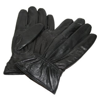 Hollywood Tag Women's Black Leather Winter Gloves