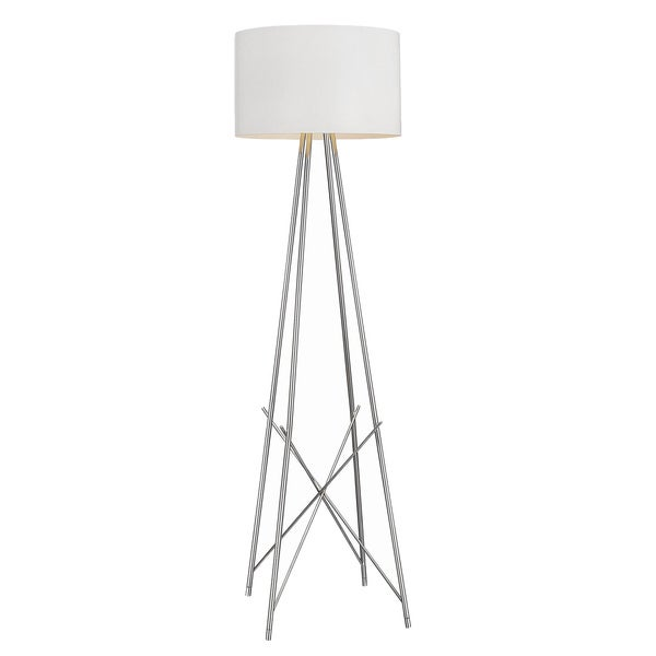 Ryan tripod silver finish floor lamp overstocktm shopping for Overstock silver floor lamp