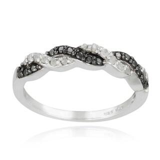DB Designs Sterling Silver 1/8ct TDW Diamond Braided Ring (I-J, I2-I3)