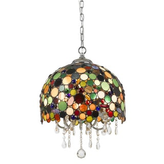 Cal Lighting Pasadena Tiffany Crystal Pendant Fixture