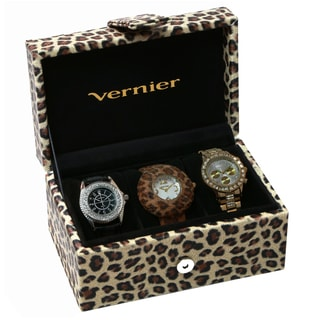 Vernier Women's 3-piece Leopard Box Set