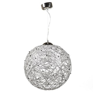 Universe 18-light Silvertone Pendant Lamp