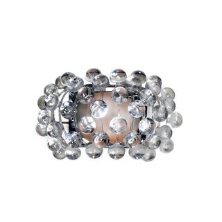 Gumball 1-light Silvertone Wall Sconce