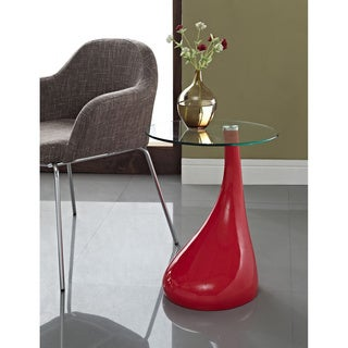 Red Teardrop Side Table