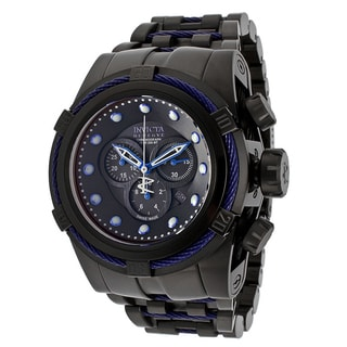 Invicta Men's 'Bolt Reserve' Stainless Steel Grey/ Blue Watch