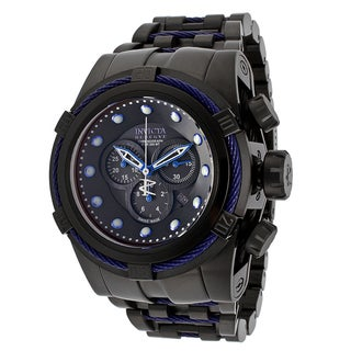 Invicta Men's 14062 'Bolt Reserve' Stainless Steel Grey/ Blue Watch