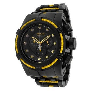Invicta Men's 'Bolt Reserve' Two-Tone Stainless Steel Flame Fushion Watch