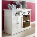 White Buffet Wood 4-drawer Dresser