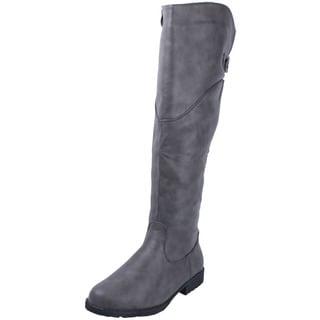 Anna Women's 'NB200-61' Notch Collar Knee-high Riding Boots