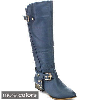 Machi Women's 'Carison-7' Knee-high Riding Boots
