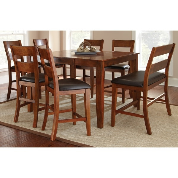 Morgan Solid Mango Wood Dining Set