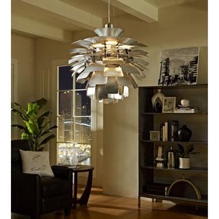 Artichoke-style Silver 24-inch Modern Chandelier Lamp