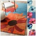 nuLOOM Hand-tufted Modern Floral Rug (5' x 8')
