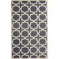 nuLOOM Handmade Marrakesh Trellis Grey Wool Rug (5' x 8')