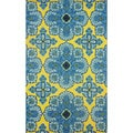 nuLOOM Hand-hooked Indoor/ Outdoor Spanish Tiles Gold Rug (8' x 10')