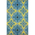 nuLOOM Hand-hooked Indoor/ Outdoor Spanish Tiles Gold Rug (9' x 12')