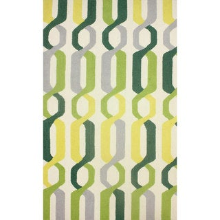 nuLOOM Hand-hooked Indoor/ Outdoor Links Yellow Rug (7'6 x 9'6)