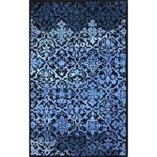nuLOOM Hand-tufted Transitional Lattice Blue Wool Rug (7'6 x 9'6)