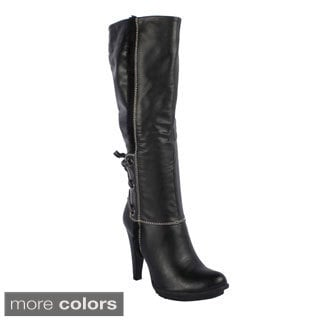 Radiant Women's 'Mitchell' Knee-high Stiletto Boots