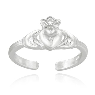Mondevio Sterling Silver Claddagh Toe Ring