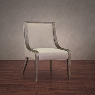 Adriana Beige Linen Dining Chair