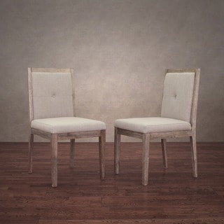Patterson Beige Linen Dining Chairs (Set of 2)