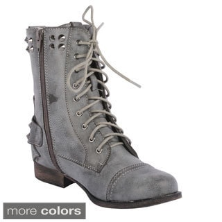 Radiant Women's 'Olympia' Mid-calf Military Boots