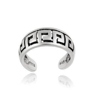 Mondevio Sterling Silver Greek Key Design Toe Ring
