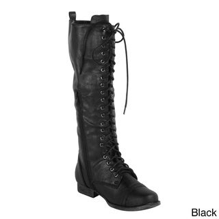 Radiant Women's 'Pagg' Knee-high Lace-up Military Boots