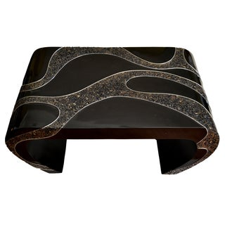 Exotic Mandan Black Coffee Table