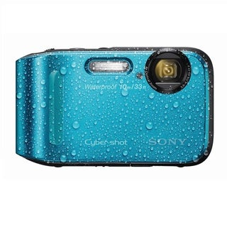 Sony Cyber Shot DSC-TF1 Waterproof 16.1MP Blue Digital Camera