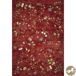 Christopher Knight Home Flatweave Floral Red Area Rug (6'9 x 9'6)