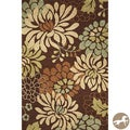 Christopher Knight Home Hand-hooked Silhouette Mocha Area Rug (5' x 7'6)