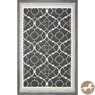 Christopher Knight Home Hand-woven Charcoal Filigree Black Area Rug (5' x 7'6)