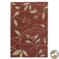 Christopher Knight Home Hand-tufted Visions Rust/ Sage Area Rug (8' x 10')