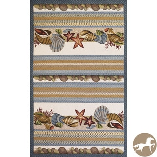 Christopher Knight Home Hand-woven Seashells Ivory Area Rug (7'6 x 9'6)