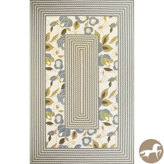 Christopher Knight Home Hand-woven Floral Ivory Area Rug (7'6 x 9'6)