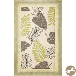 Christopher Knight Home Ivory Tropical Area Rug (7'6 x 9'6)