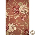 Christopher Knight Home Brick Red Flora Area Rug (8'1 x 11'2)