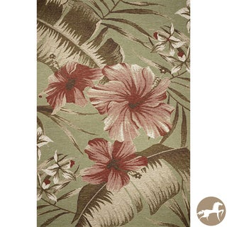 Christopher Knight Home Sage Green Hibiscus Area Rug (8'1 x 11'2)